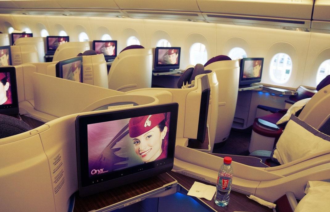 Qatar Airways A350XWB Business Class