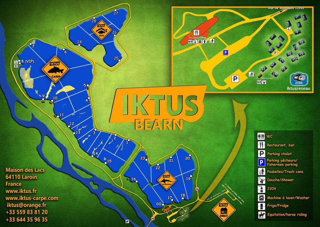 plan et carte du domaine d'Iktus à Pau (Béarn)