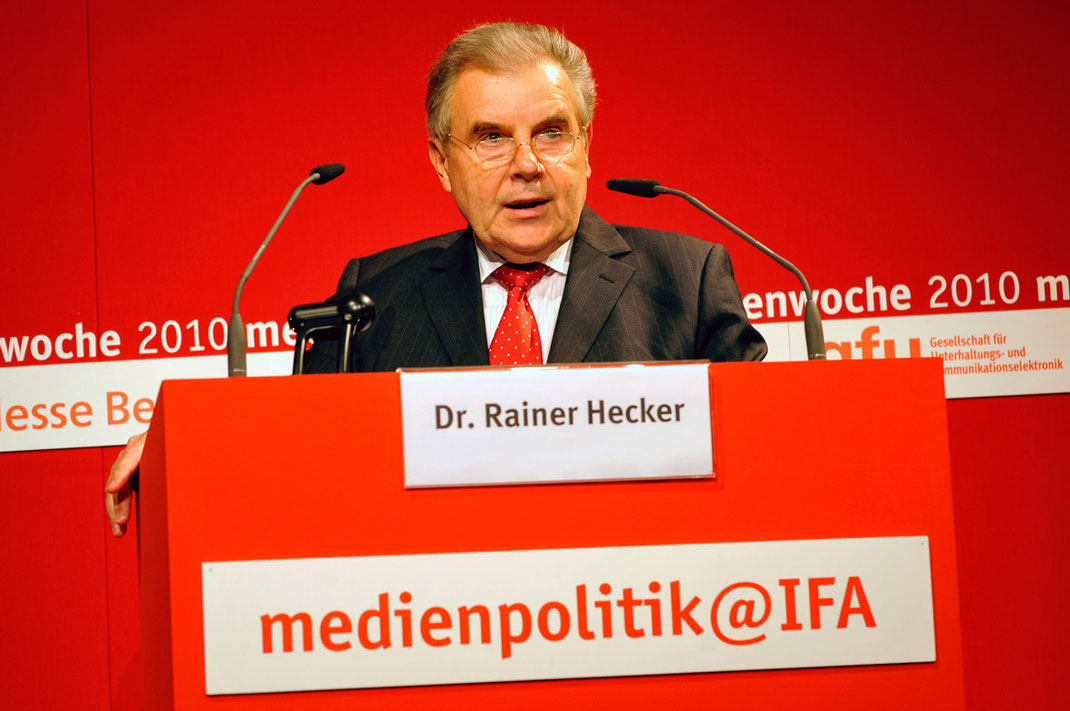dr. rainer hecker, messe