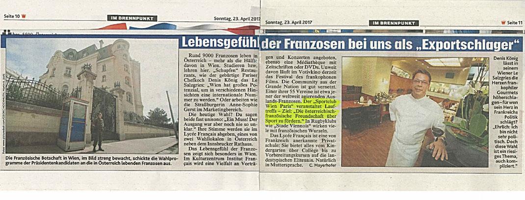 Kronen Zeitung, 23.4.2017