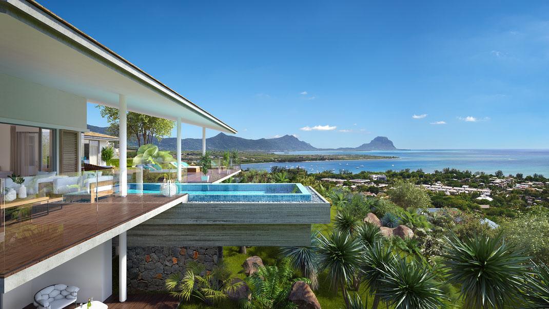 Devenez propriétaire en RES d'une villa de Prestige VUE MER ILE MAURICE