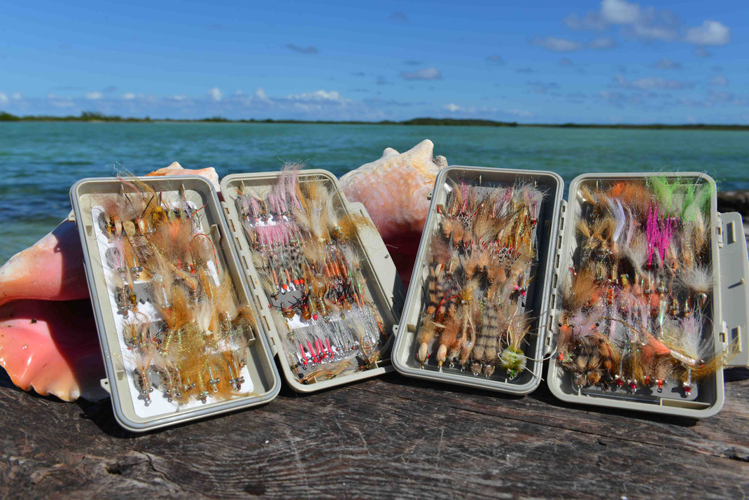 Fly fish Bahamas, FFTC.club saltwater destination, Crooked Island and Acklins, fly boxes, Fly fish saltwater adventure for bonefish, permit, triggerfish, sharks, jacks, barracuda.
