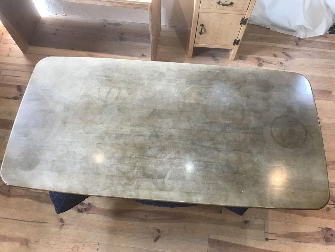 食卓テーブル塗装修理前