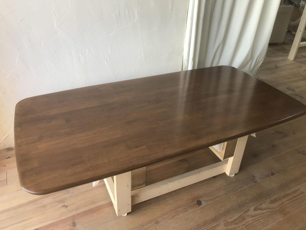 食卓テーブル塗装修理後