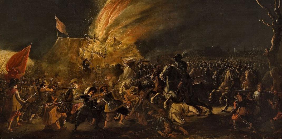 Esaias van de Velde, Nächtliches Gefecht, 1623