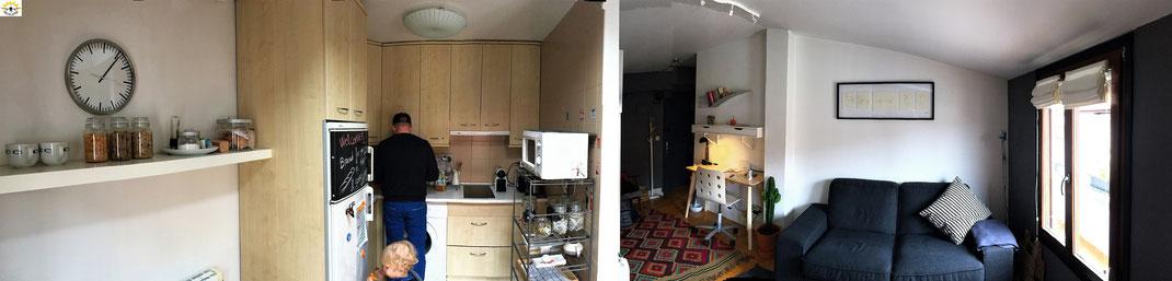 Die Wohnung: Küche & Wohnzimmer