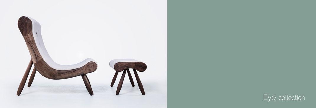 Eye-eine-Collektion-von-Hookl-und-Stool-mit-Sessel