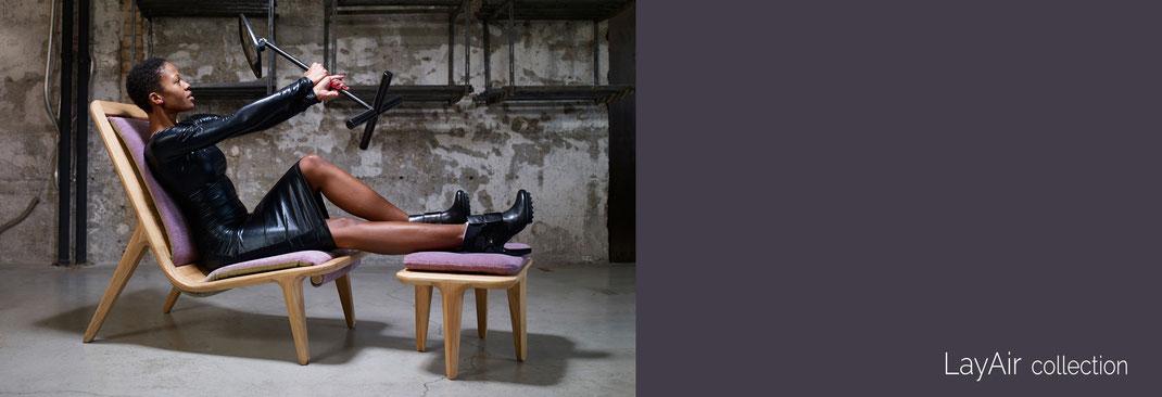 Der-Sessel-LayAir-von-Hookl-und-Stool-mit-Fußbank