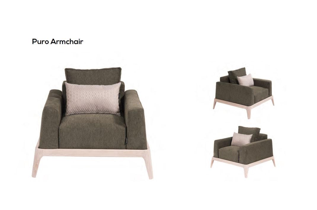 Ein-Sessel-ist-der-Puro-von-WoodLab-mit-Stoff-bezogen