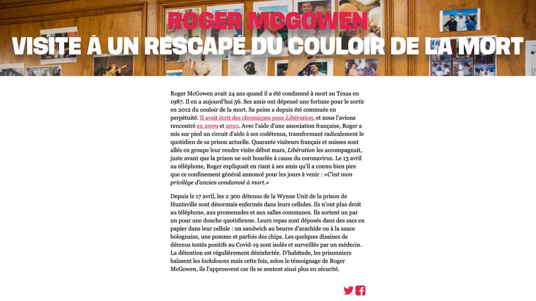 Extrait journal Libération