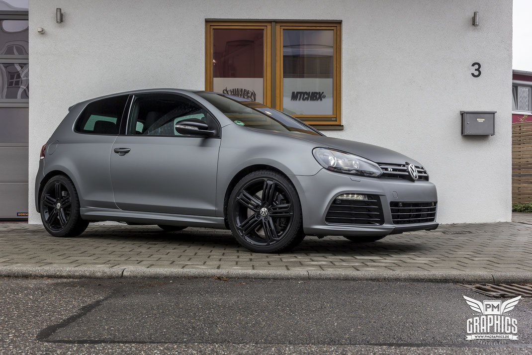 vw golf 6 r frozen tungsten premium wrapping. Black Bedroom Furniture Sets. Home Design Ideas