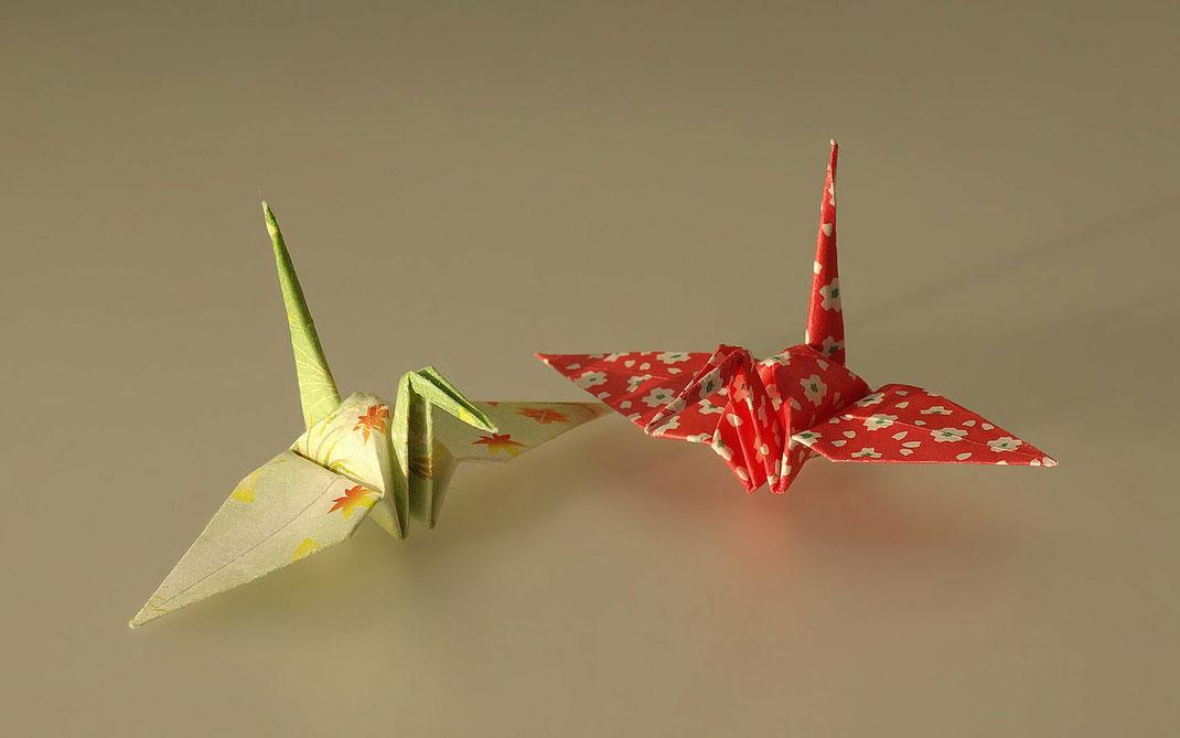Kraniche aus Papier - ein Friedenszeichen