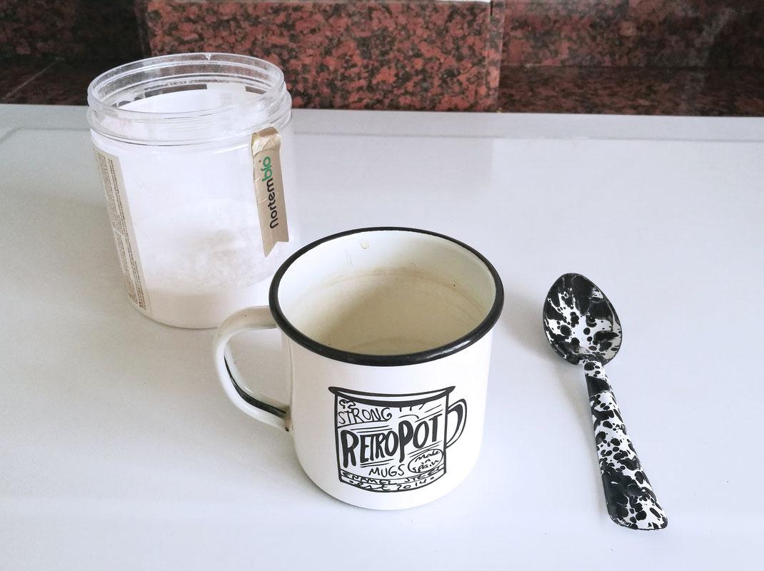 RETROPOT bicarbonato cuchara y agua