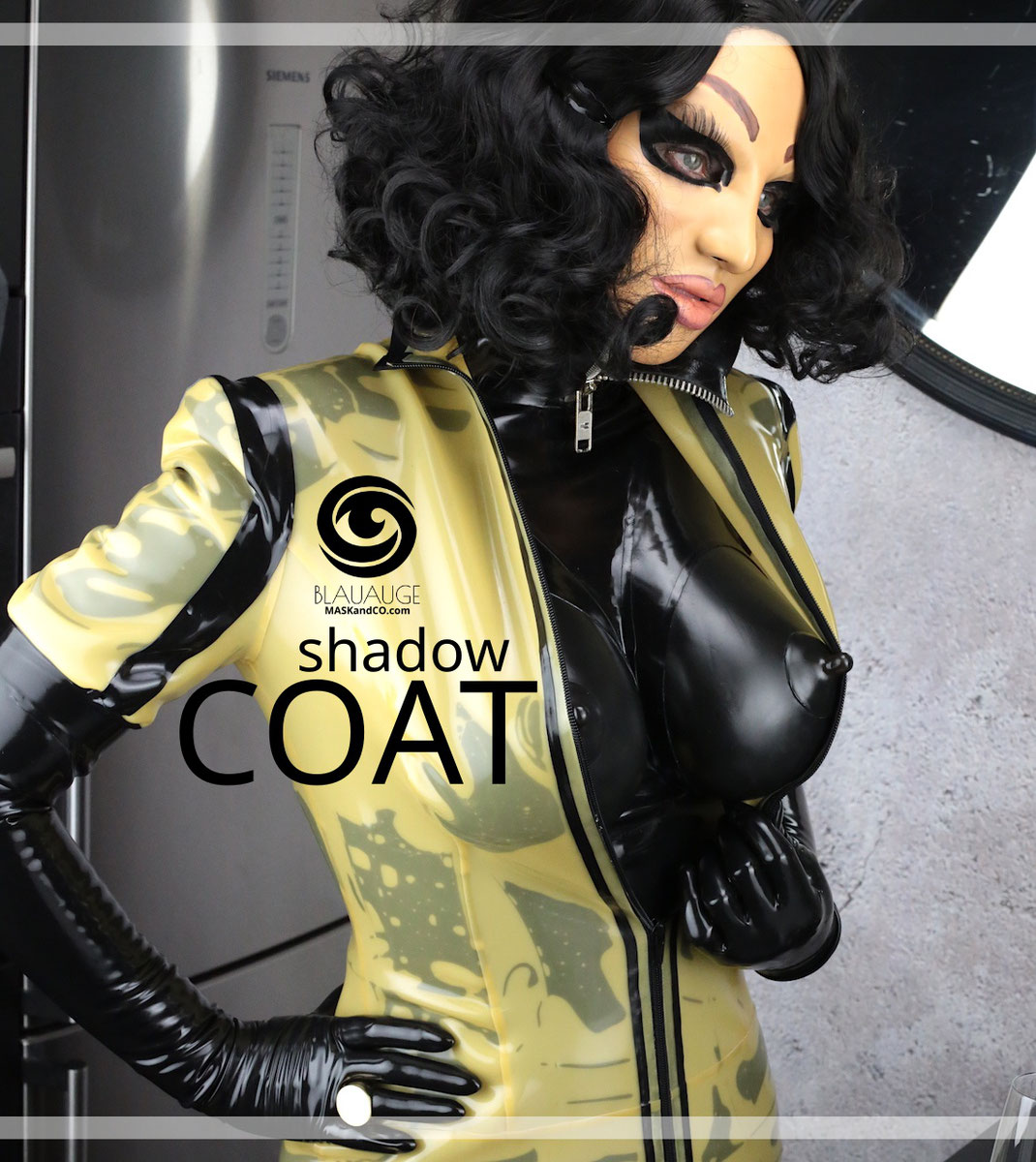 latexjacke latex jacket, female maske, latexhood, latexmaske, doll, rubberdoll, fetishmodel, latexfetish, heavyrubber,
