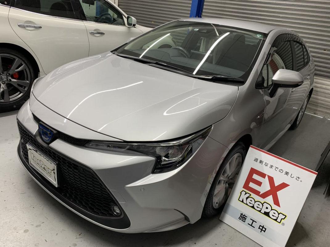 新車トヨタカローラにEXキーパープレミアム施工しました。