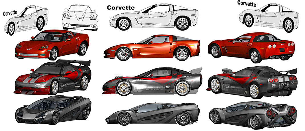 diseño en fibra de vidrio de autos