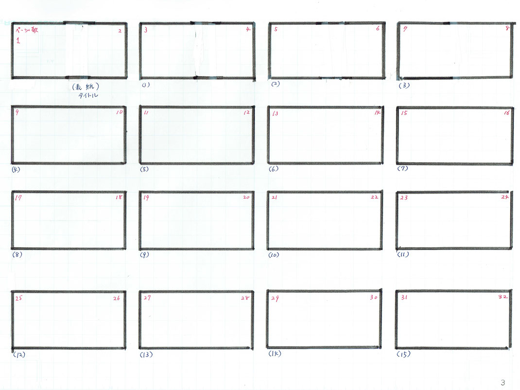 (※この表は32ページ構成で作成しています)