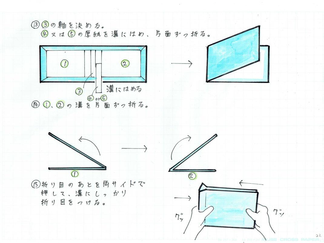 紙がよれていないか確認しながら行うと、きれいに折ることができます。