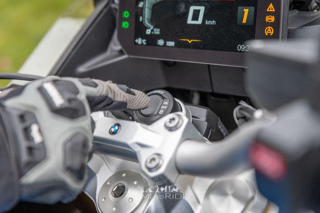 Keyless Ride besitzt sowohl die BMW F 850 GS Adventure als auch die große Schwester BMW R 1250 GS Adventure