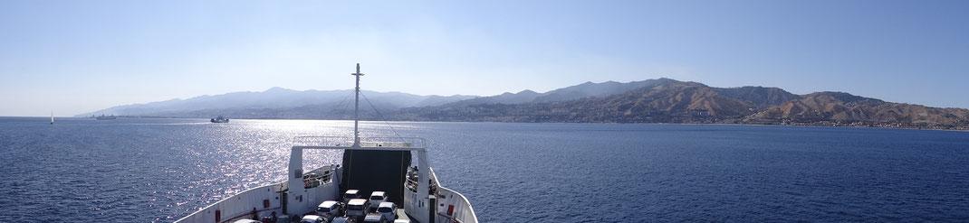 Sizilien - mit dem Wohnmobil - rauf zum Ätna - Fähre nach Messina