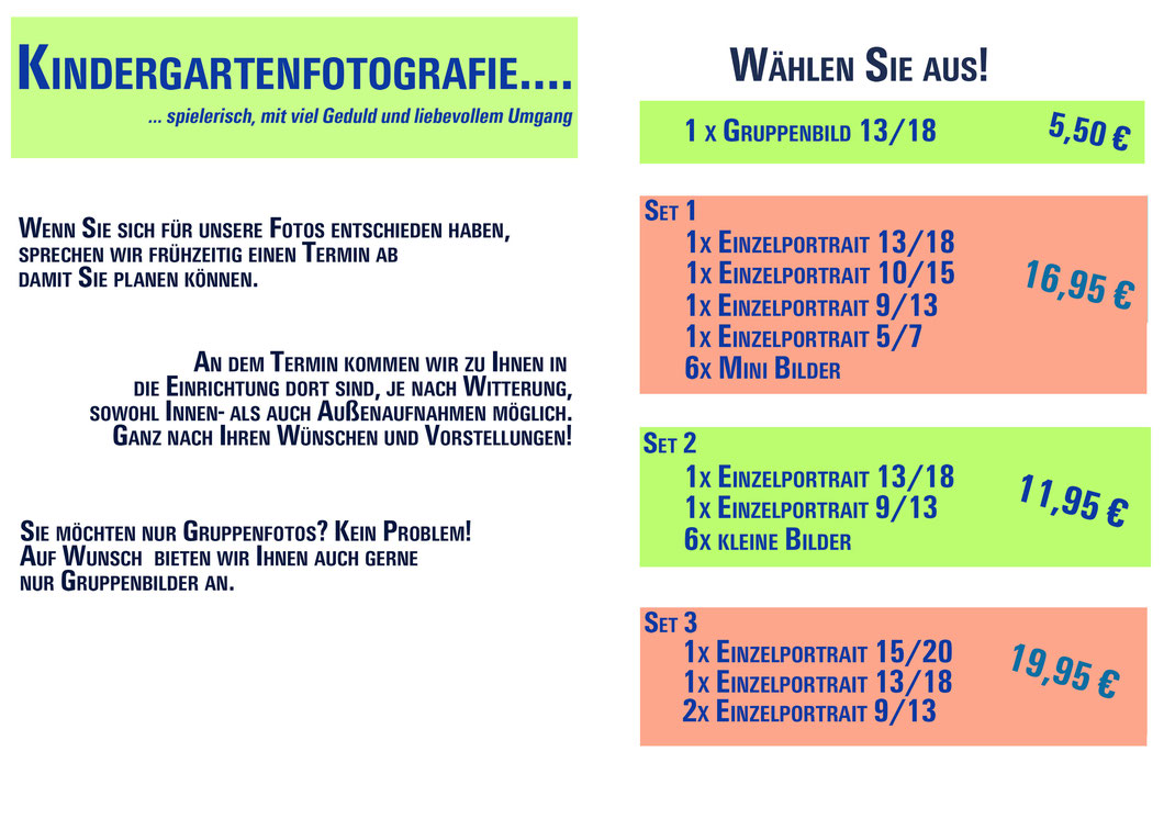 Kindergartenset Angebot