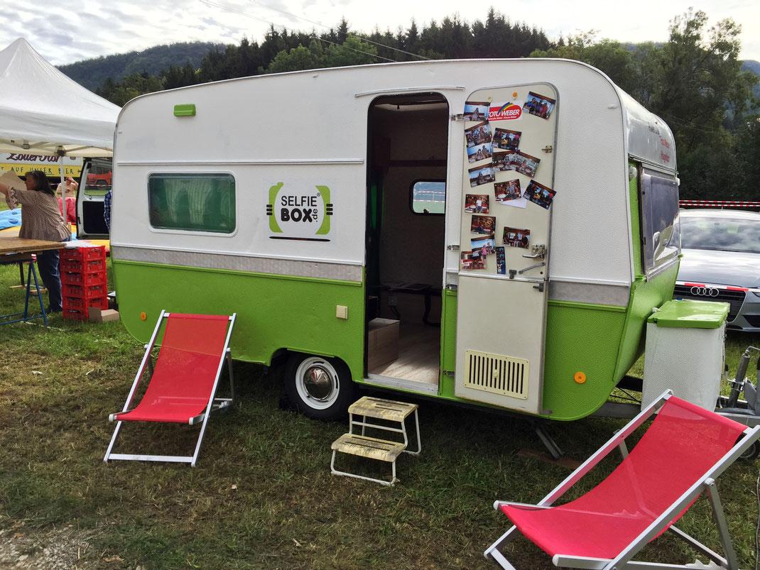 Selfie-Boxen Wohnwagen der Wohnwagen, der Fotobox-Wohnwagen ist flexibel einsetzbar