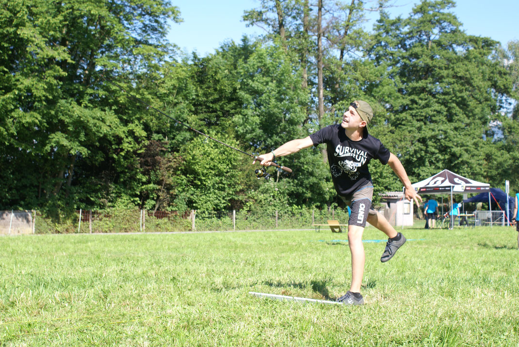 Cyril hatte mit 49,90 Metern den längsten Wurf vom ganzen Wettkampf