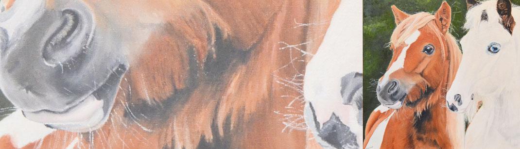 Schilderij van je eigen paard laten maken.
