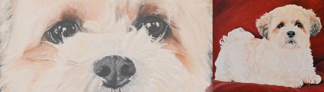 Schilderij van je eigen hond laten maken
