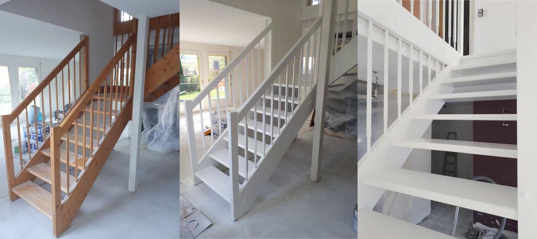 Treppe neu gestrichen