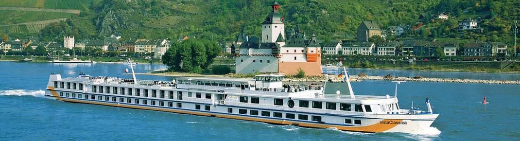 Silvester Flusskreuzfahrt auf dem Rhein bis Amsterdam ab Düsseldorf am 28.Dezember 2020 mit Plantours Kreuzfahrten und MS Vista Classica