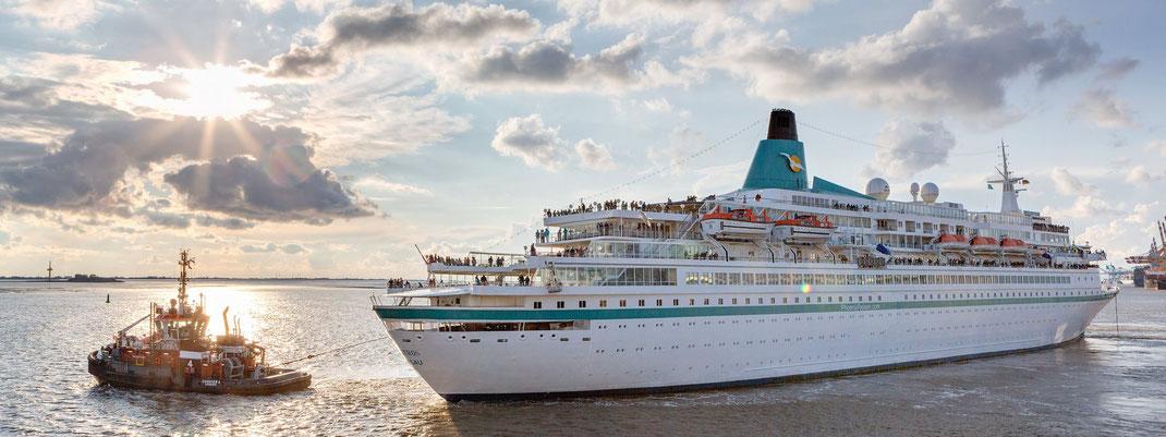 Weltreisen mit MS Albatros waren für 2021 vorgesehen, wurden aber aufgrund der Veräußerung (Verkauf) der MS Albatros abgesagt (c) Phoenix-Reisen