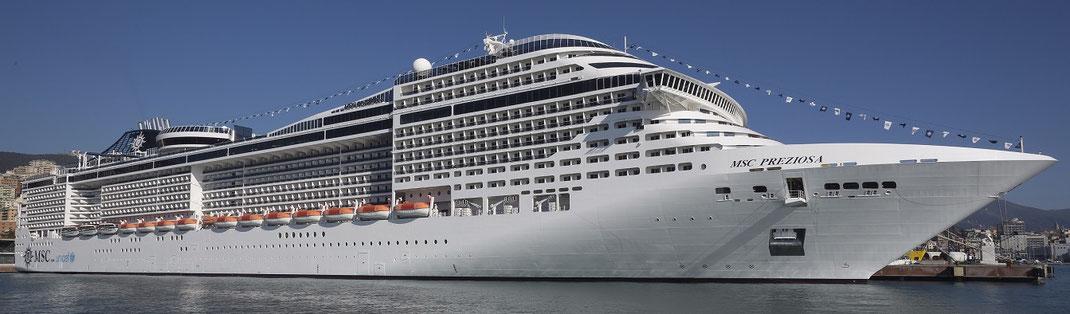 Günstige Kreuzfahrten mit MSC Preziosa jetzt hier bei Reiselotsen cruise & tours MSC Angebote buchen