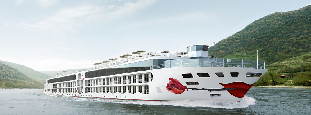 A-Rosa Flusskreuzfahrten mit Neubau auf dem Rhein, A-Rosa Flussreisen mit beliebter all inclusive Verpflegung an Bord - hier Modellfoto (c) A-Rosa cruises