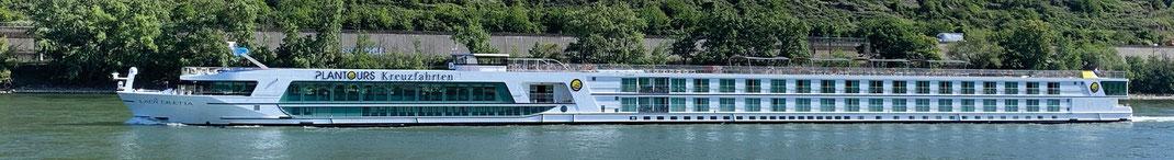 """MS """"Lady Diletta"""" Flussreisen auf Rhein, Main, Donau, den beliebten deutschen Flüssen hier im Vertragsreisebüro Reiselotsen zu buchen Lady Diletta"""" (c) Foto Reederei plantours & Partner GmbH"""