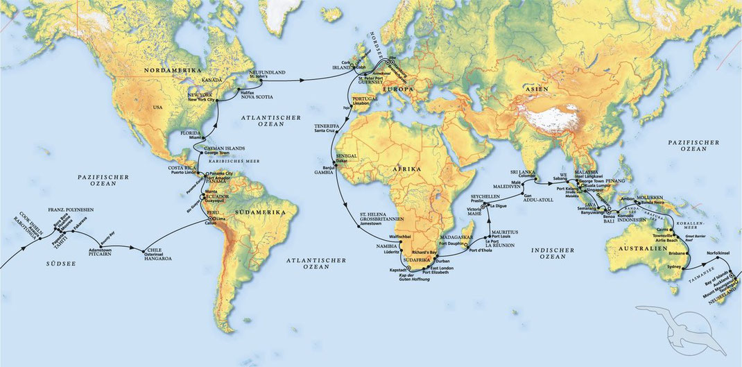 Weltreisen mit Kreuzfahrtschiff MS Amera 22.Dezember 2020 Weltumrundung ab Monaco bis Bremerhaven 127 Tage ab 22.699,-€ - Wir planen und buchen als Vertragsagentur Ihre Phoenix Weltreise ....