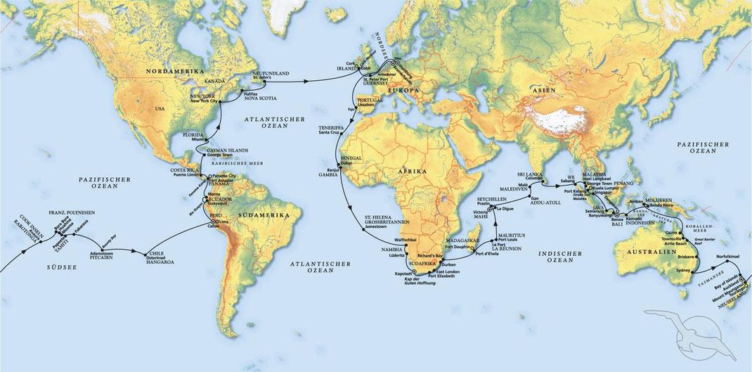 Phoenix Kreuzfahrten Weltreisen 2022 und Weltumrundung 2023 mit Phoenix Schiff MS Amera ab Hamburg hier online informieren