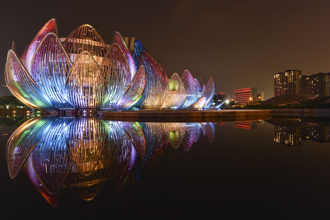 The Lotus Building Changzhou Architektur Spiegelung LZB China Fotospot Asien