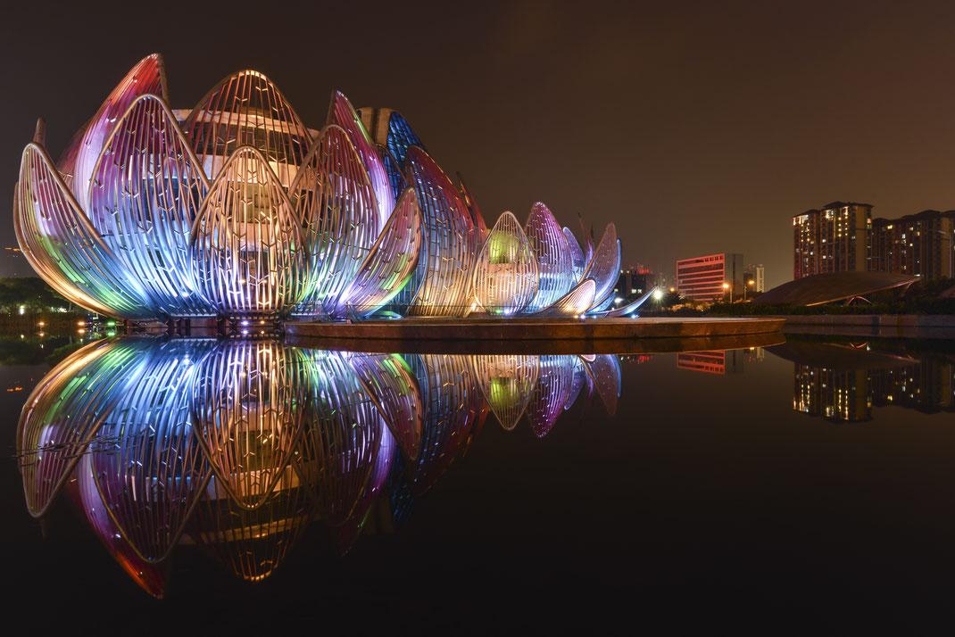 The Lotus Building Changzhou Architektur Spiegelung LZB China Fotospot Asien