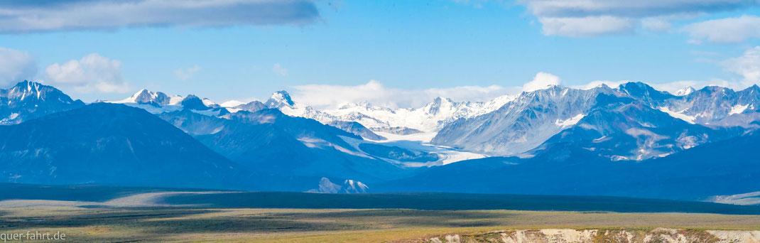 Blick zum Gulkana Glacier.