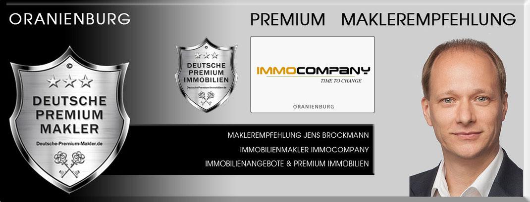 IMMOBILIENMAKLER ORANIENBURG JENS BROCKMANN IMMOCOMPANY IMMOBILIEN ORANIENBURG