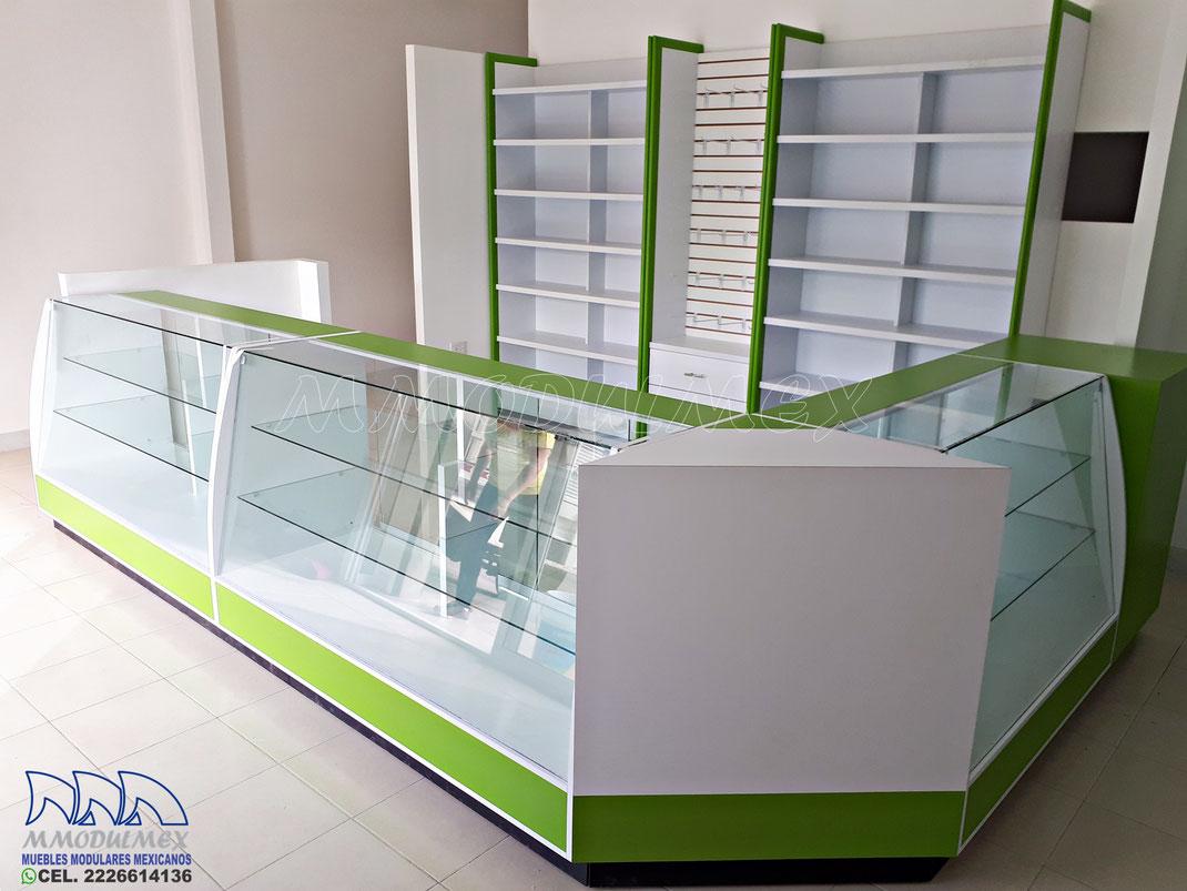 Mostrador para farmacia, vitrina para farmacia, muebles para farmacia