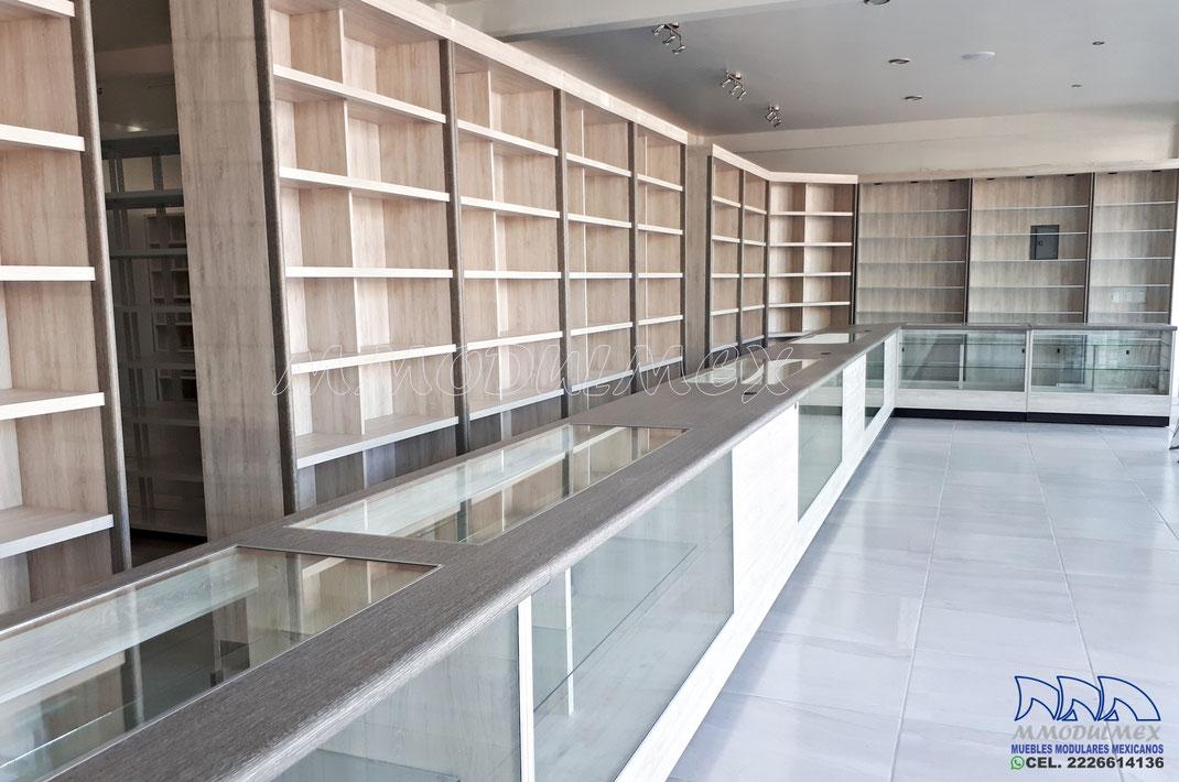 Muebles para farmacia, vitrinas para farmacia, mostradores para farmacia