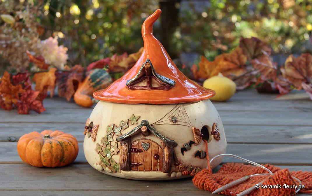 Keramik Fleury Garnschale Strickhaus