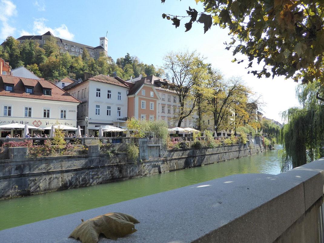 Ljubljana - immer am Fluss entlang