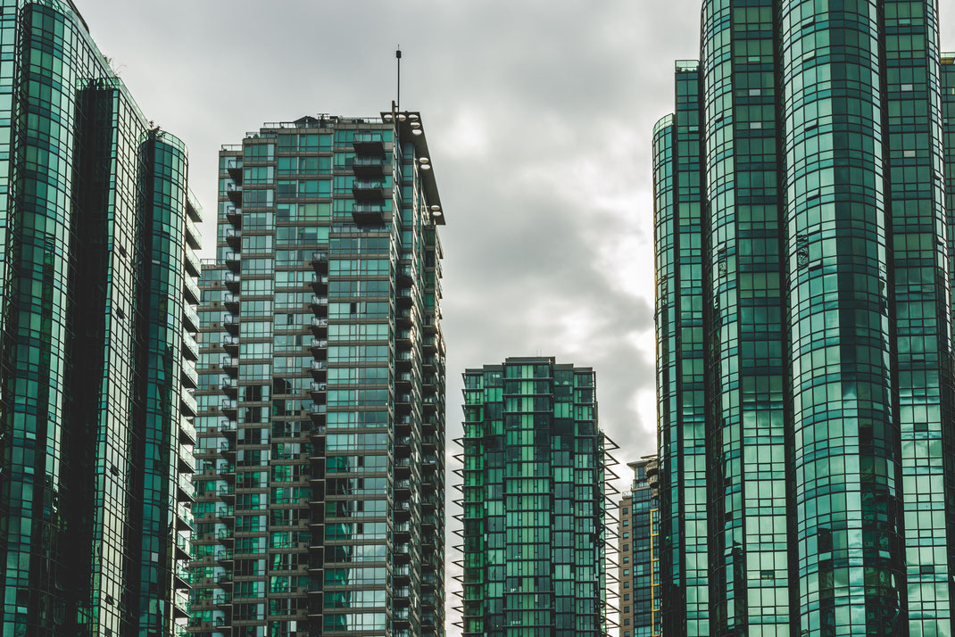 green business skyscrapers in Vancouver