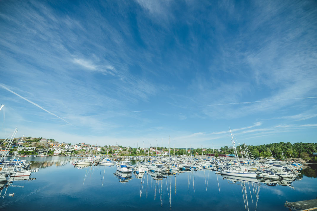 the yacht harbour of Kristiansand