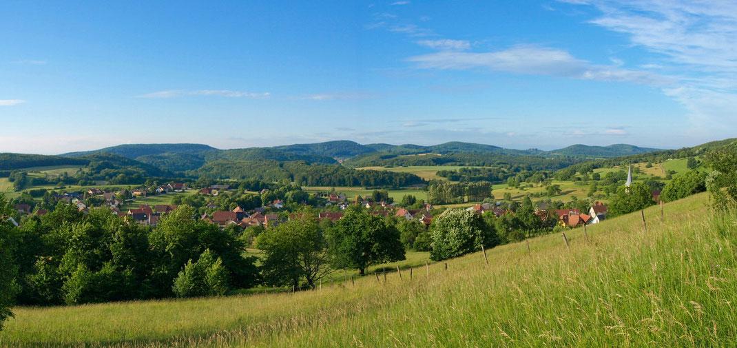 Massif du Jura alsacien, village de Winkel
