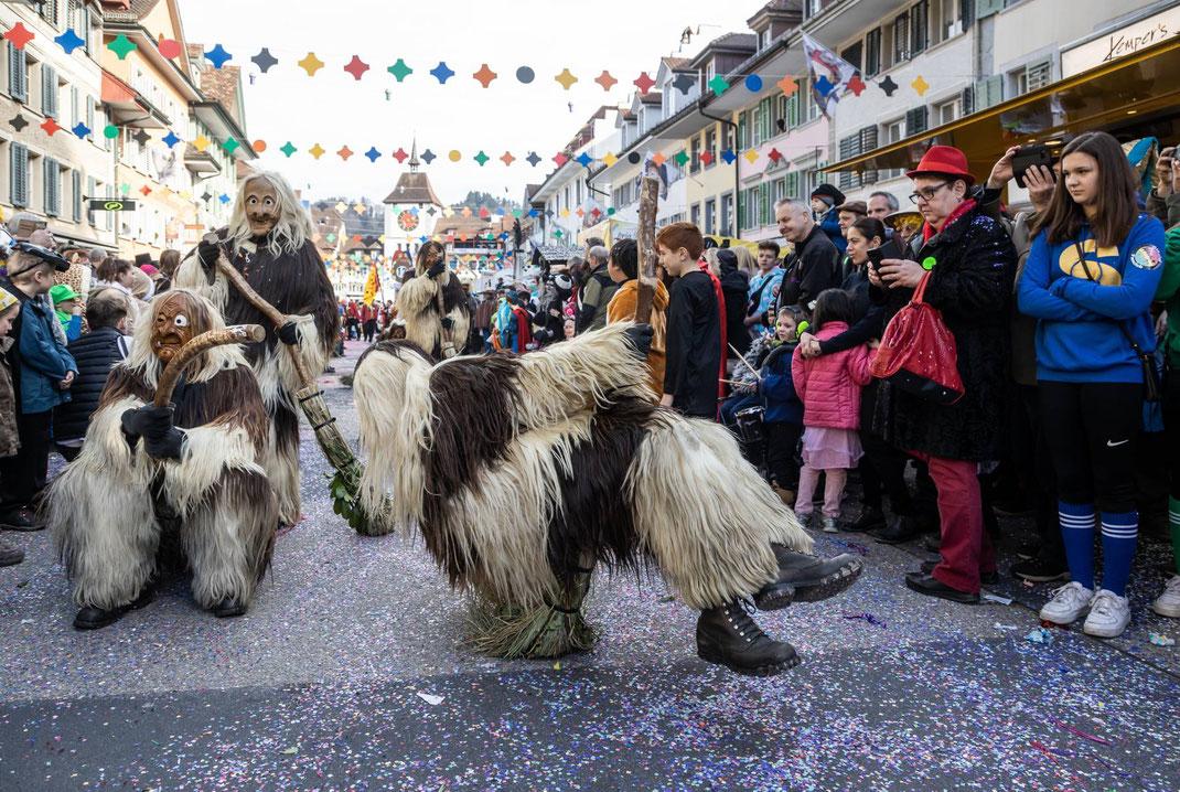 Sorgen mächtig für Spektakel: die Ostergauer Moorsträggele