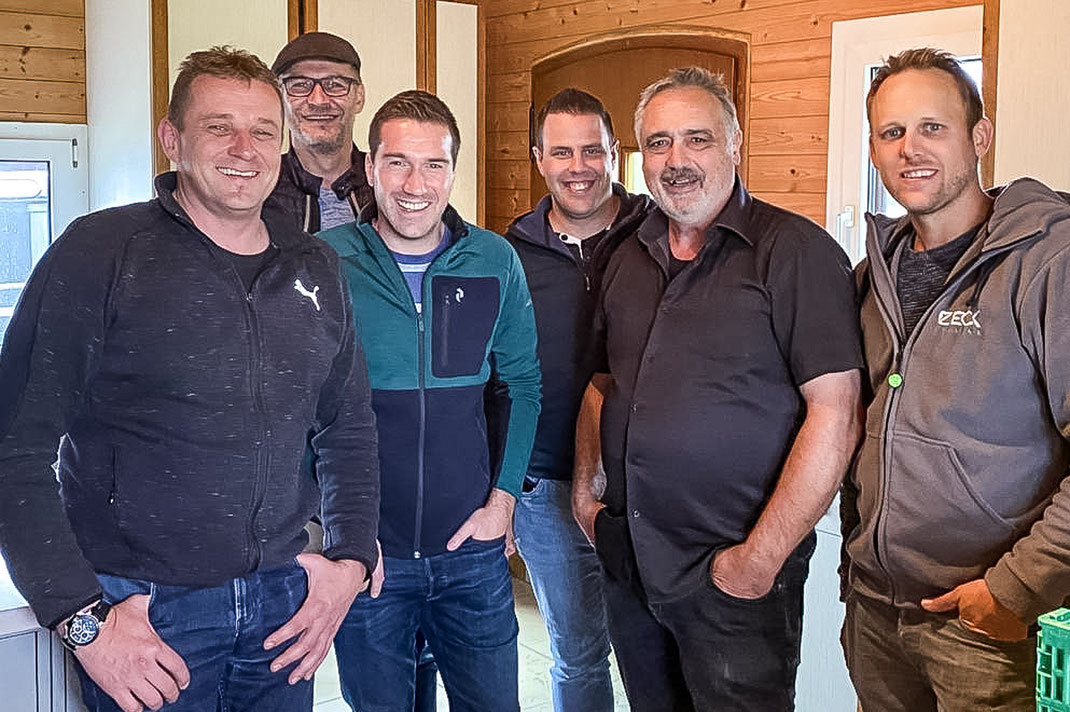 Wir danken für Euren Besuch und das langerwartete Wiedersehen: Mändu, Edi, Claudio, Pädi, Thomi und Feschi!!!